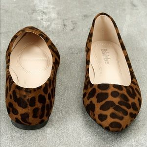 HOLLY LEOPARD PRINT SUEDE FLATS